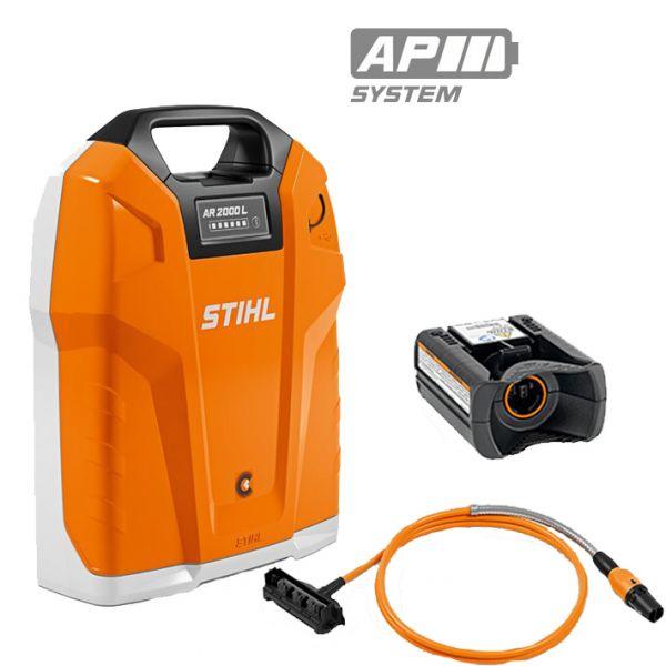 Rückentragbarer Akku STIHL AR 2000 L mit Adapter AP /Anschlussleitung