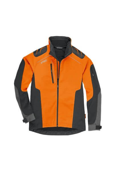 Jacke STIHL Herren ADVANCE X-SHELL orange/schwarz, vorne