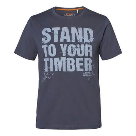 """T-Shirt STIHL """"STAND TO YOUR TIMBER"""", grau"""